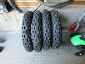 4 tire for dirt bike, 2.50 x 10 , PW50 TTR50 CRF50 DRZ50