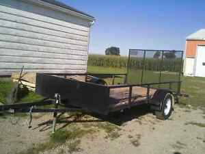 Utility trailer for rent.