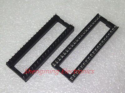 100pcs 40 Pin Dip40 Integrated Circuit Ic Sockets Adaptor Solder Type
