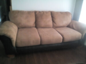 sofa, brushed suede