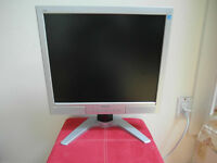 """Phillips 190B 19"""" Beautiful LCD Monitor Silver Great looking!!!"""