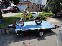 Great flatbed 4x8, set up for motorcycle, new tires, 3 spares!
