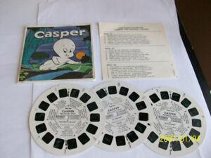Vintage VIEW MASTER,1961, CASPER, 3 roulettes, bon état