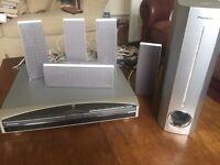 Pioneer DVD + surround sound system