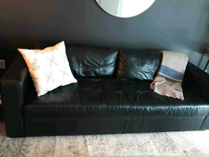 Black Leather EQ3 Couch