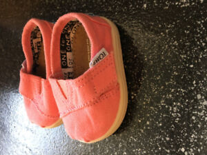 Pink Toms - infant size 2