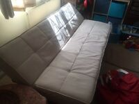 Suede sofa bed excellent condition