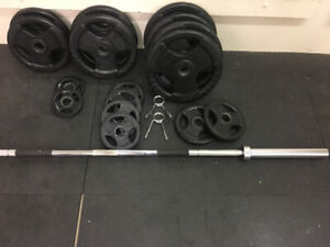 Olympic weights plates bar