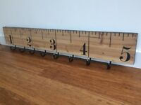 Funky Ruler clothes hooks