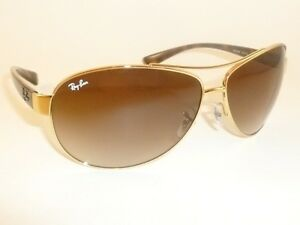 2baf794b9e5 New RAY BAN Sunglasses Gold Frame RB 3386 001 13 Gradient Brown Lenses 67mm