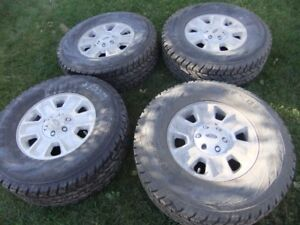 lt 285 70 17 like new tires on ford f150 rims with sensors