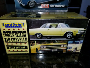 1:18 Diecast Lane Exact Detail 1965 Crocus Yellow Z16 Chevelle