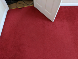 Bedroom carpet for sale looks great Red with two cut outs