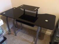 Glass Corner Desk - Homebase - £20