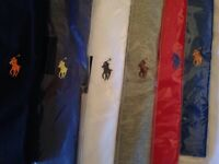 Ralph Lauren mens t shirt crew neck short sleeves small pony 6 colours £15 each cotton
