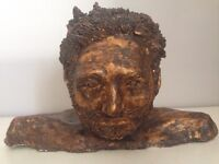 Bronze Male Head Statue