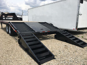 102x20 Plus 5 ft Beavertail Sure Trac Gooseneck Trailer Kitchener / Waterloo Kitchener Area image 4