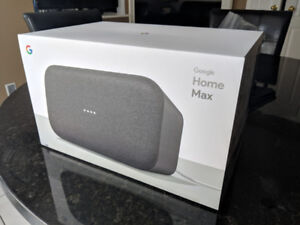 Google Home Max BNIB sealed in box. Charcoal color