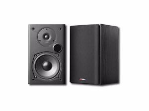 Pair of Polk Audio T15 Bookshelf Speakers 100W Black