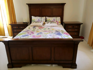 Queen size bed frame and dresser