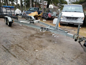 25 ft GALVANIZED BUNK BOAT TRAILER EXCELLENT