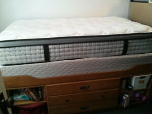 Captain's Bed with a 2 year old Mattress/Boxspring