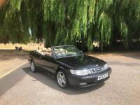2000/W Reg Saab 9-3 2.0 Turbo SE 2 Door Convertible Black (79,000 Miles)