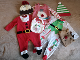 3-6 months, baby clothing bundle, Christmas