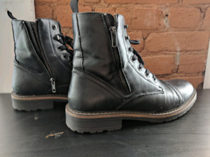 Kenneth Cole Unlisted boots and Aldo Oxfords