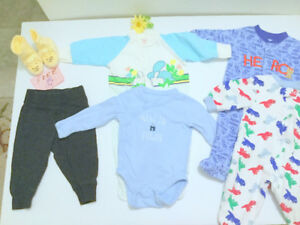 Baby BOY (0-3m.) GAP Bodysuit, Eaton Jumper, Fee Booties