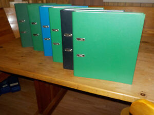 GERMAN BINDERS WITH PUNCHED POCKETS AND RULED PAPER SIZE DIN A4
