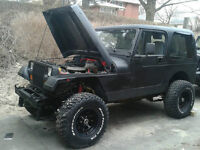 "Jeep Wrangler YJ, 5.7l 350sbc, 4"" lift  NEED GONE!"