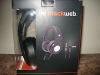 BLACKWEB over the ear HEADPHONES