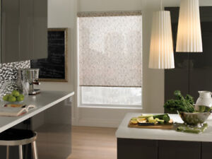 Shade O Matic Brown/Black Grass patterned Roller shade