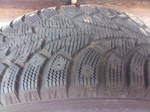 Set of 4 winter tires, mounted on rims North Shore Greater Vancouver Area image 3