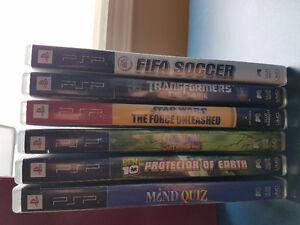 Lot de jeux pour playstation portable (PSP)