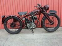New Imperial Unit Super 250cc 1933, V5C Registration Document & Buff Log Book