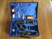 Earlham Clarinet complete with sheet music and stand