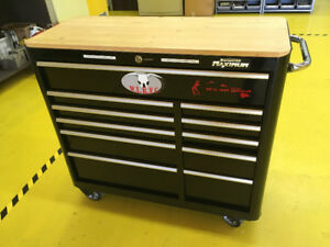 "Blk Mastercraft Max. 43"" 11 drawer rolling toolbox CTC#58-0920-4"