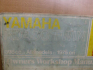 YAMAHA RD400 TWIN HAYNES SHOP MANUAL Cambridge Kitchener Area image 2