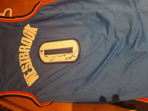autograph Russell Westbrook Jersey tags still on it