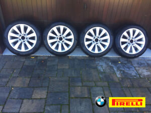 17 in. SNOW TIRES with alloy rims | Pirelli 225/50 R17