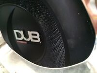 Autobahn Dub Mag Audio 1000 subwoofer and built on 500w Toxic Amp