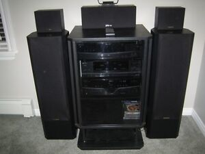 Fisher Stereo System & Cabinet for Sale