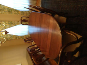 Formal dining room set. Mint condition. All cherry wood.