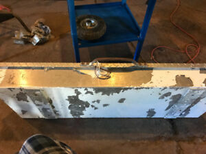 Tool box for trailer tonge