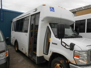2010 Ford E450 14 Passenger Bus with wheelchair lift-Diesel