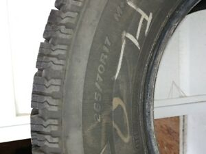 4 winter tires 265/70R17