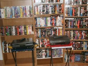 VSH Movies,VCR machines & 3 shelves