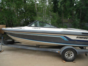 1988 Stratos Boat 17 Ft Chev 2.5 -3 Litre OMC with New Mfr Motor